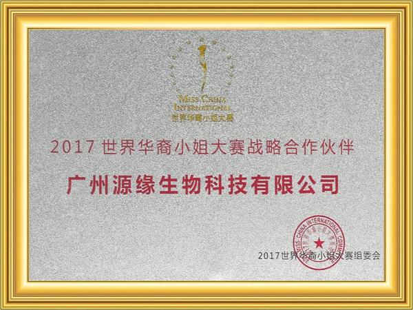 2017世界华裔小姐大赛战